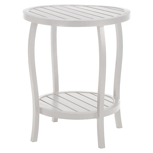 Cottage Side Table, French Linen