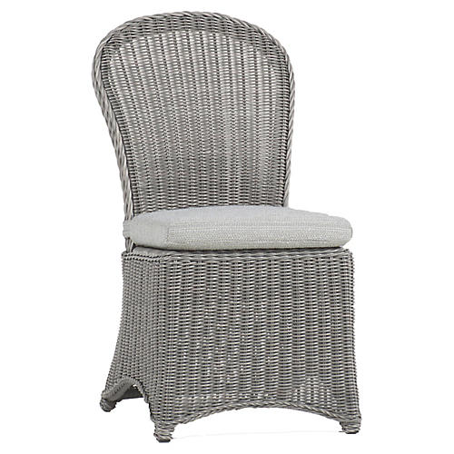 Regent Oyster Side Chair, Dove Sunbrella
