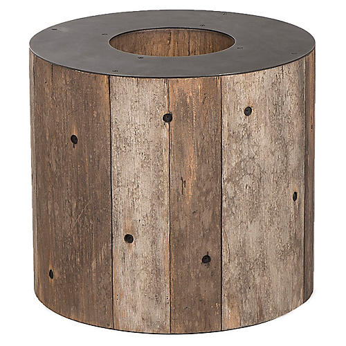 Alphabet O Side Table, Gunmetal