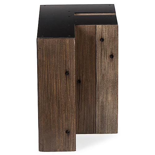 Alphabet F Side Table, Gunmetal