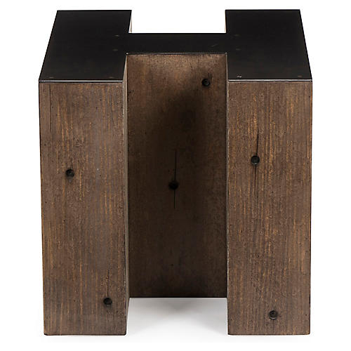 Alphabet H Side Table, Gunmetal