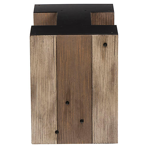 Alphabet I Side Table, Gunmetal
