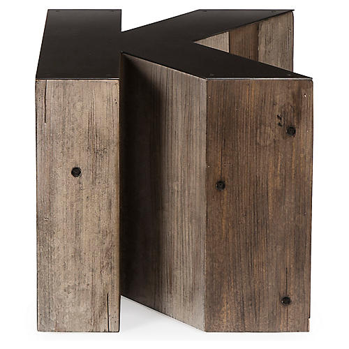 Alphabet K Side Table, Gunmetal