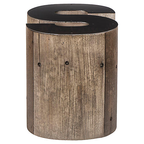 Alphabet S Side Table, Gunmetal