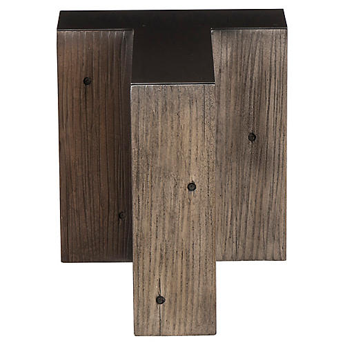 Alphabet T Side Table, Gunmetal