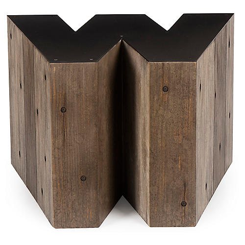 Alphabet W Side Table, Gunmetal