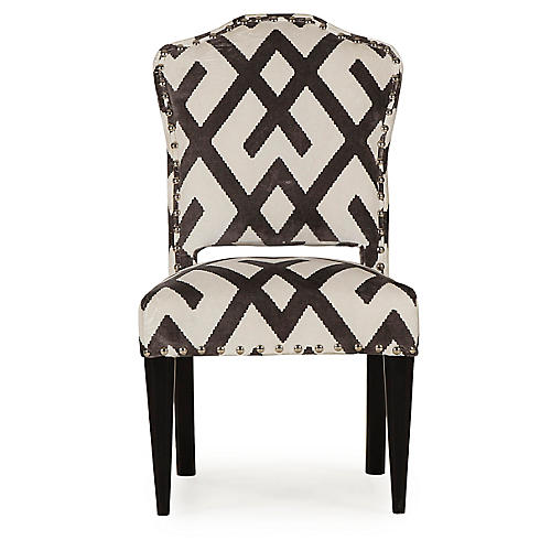 Bacall Side Chair, Chocolate