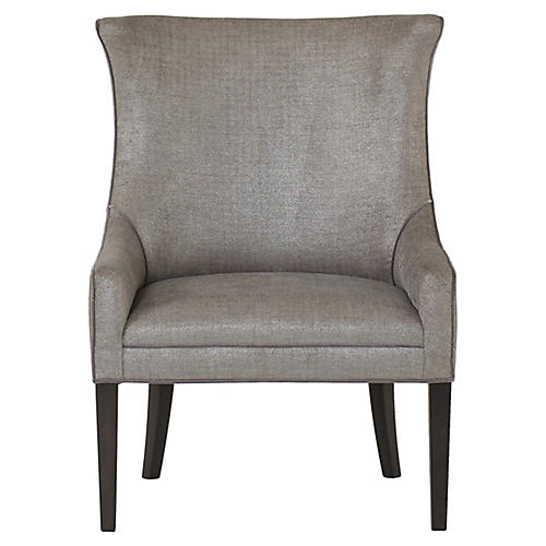 Hamish Accent Chair, Silver