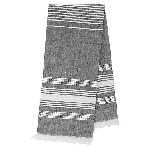 Stripe Tea Towel, Gray/White
