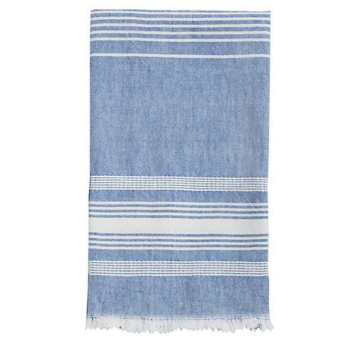 Stripe Tea Towel, Blue/White
