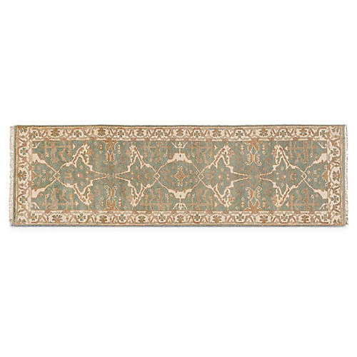 "2'5""x8' Oushak Runner, Green/Multi"
