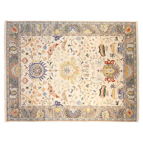 9'x12' Sari Oushak Rug, Ivory/Gray