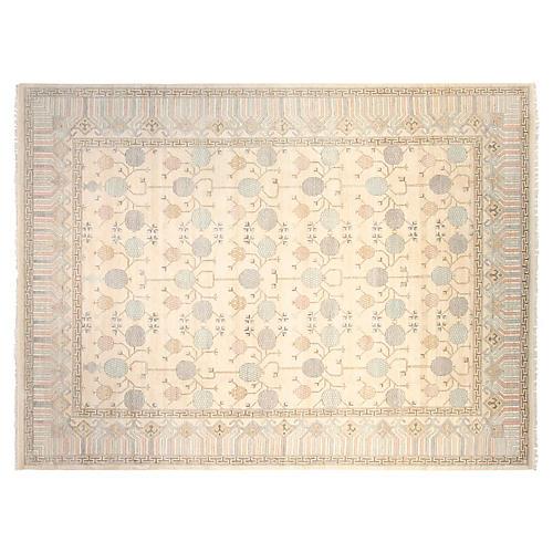 9'x12' Sari Khotan Rug, Ivory/Multi
