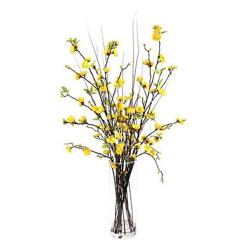 """34"""" Blossom Arrangement w/ Vase, Faux"""
