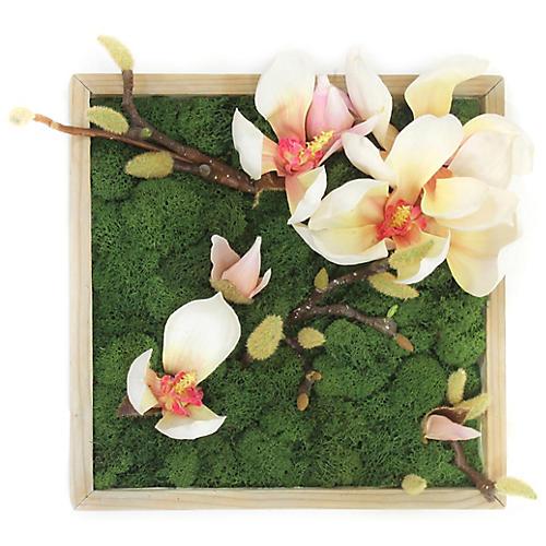 "12"" Magnolia Wall Piece, Faux"