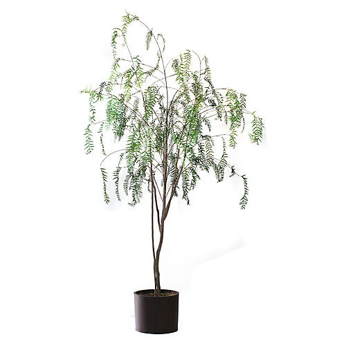"96"" Sparse Pepper Tree w/ Planter, Faux"