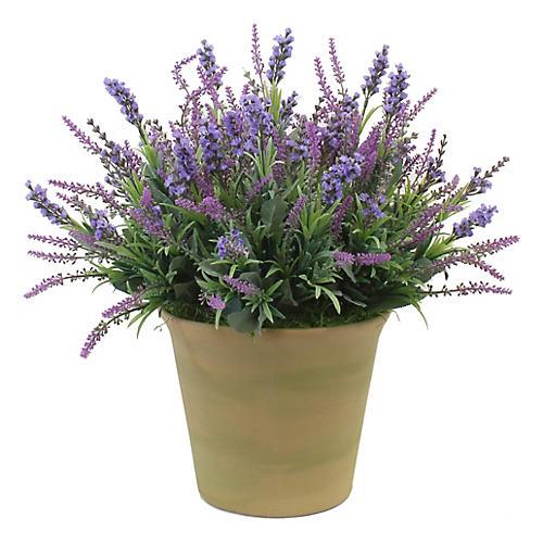 """15"""" Lavender Arrangement w/ Planter, Faux"""