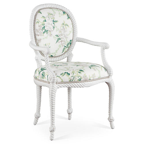 Bellona Armchair, Green/Multi