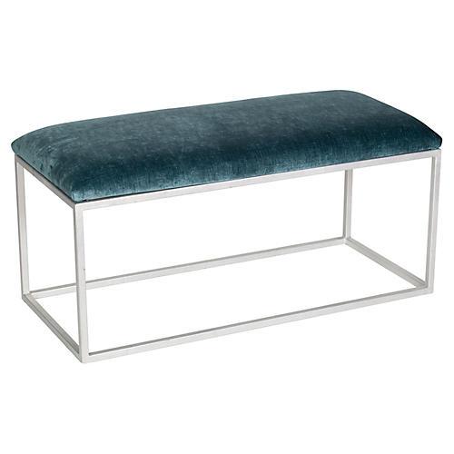 Block Bench, Jade/Silver