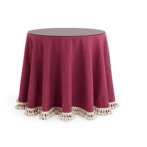 Eden Waterfall Skirted Table, Hibiscus