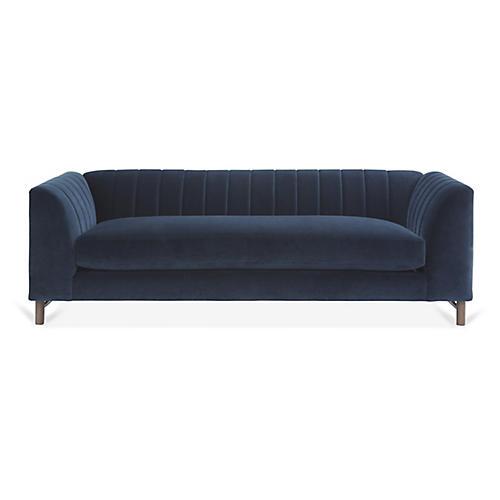 Alden Sofa, Navy Velvet