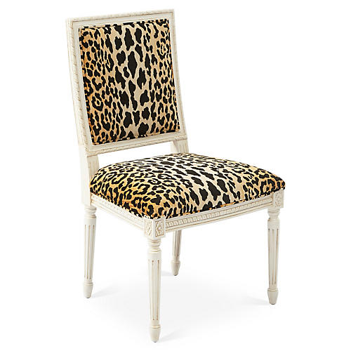 Exeter Side Chair, Leopard