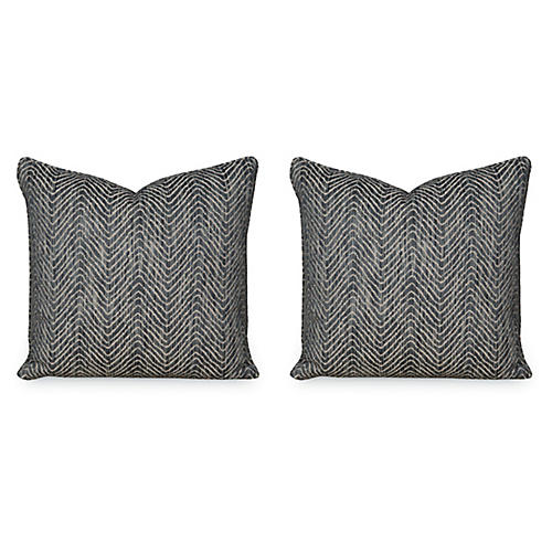 S/2 Dromedary Pillows, Caviar