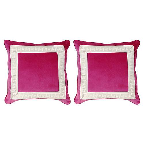 S/2 Robertson Pillows, Sangria
