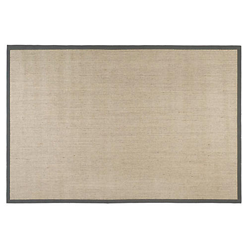 2'x8' Amara Sisal Rug, Marble/Gray