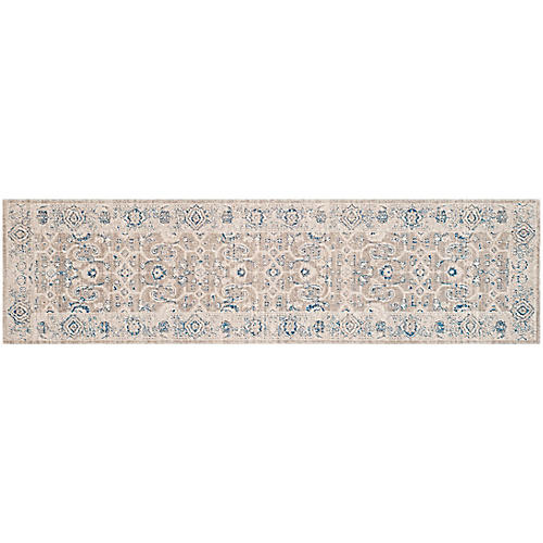 "2'2""x8' Vickie Runner, Taupe/Ivory"
