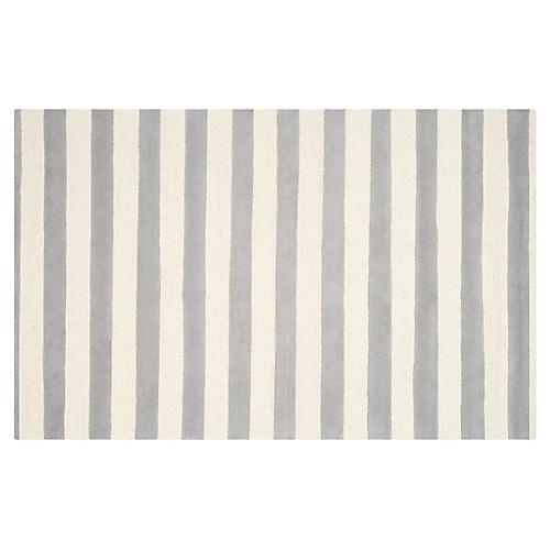 4'x6' Briana Rug, Gray/Ivory