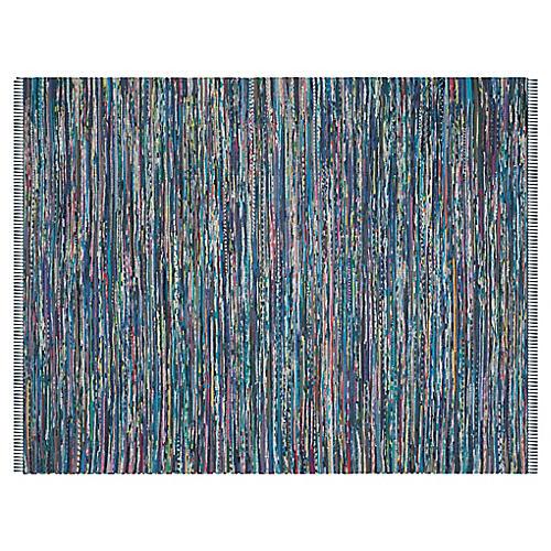 4'x6' Stormi Flat-Weave Rug, Ink/Multi
