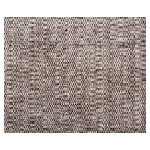 8'x10' Modern Hand-Knotted Rug, Gray