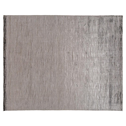 8'x10' Modern Hand-Knotted Rug, Silver