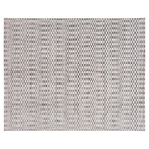 8'x10' Modern Hand-Knotted Rug, Ivory