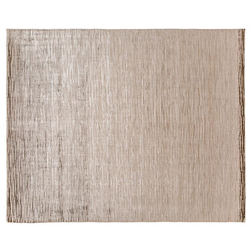 8'x10' Modern Hand-Knotted Rug, Beige