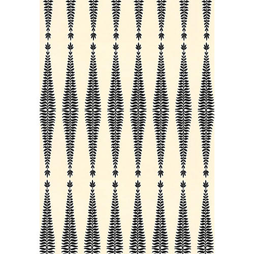 Fern Tree Wallpaper, Noir