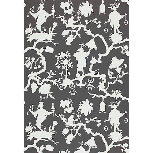 Shantung Silhoutte Wallpaper, Smoke