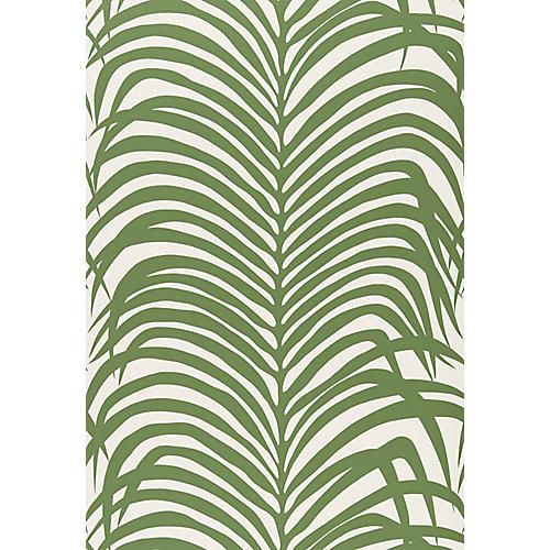 Zebra Palm Wallpaper, Jungle
