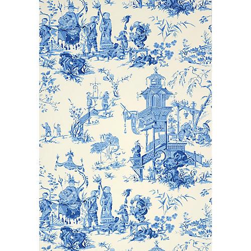 Chinois Wallpaper, China Blue