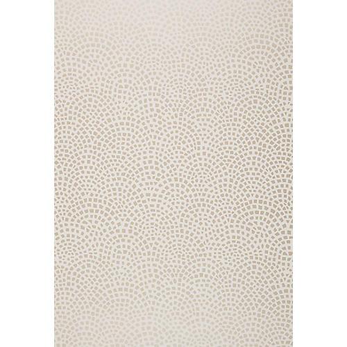 Mosaic Wallpaper, Silver