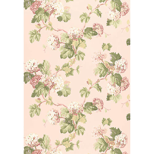 Viburnum Wallpaper, Blush