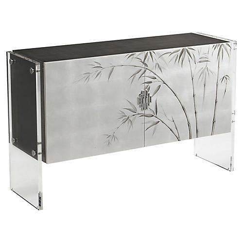 Anji Cabinet, Silver Leaf