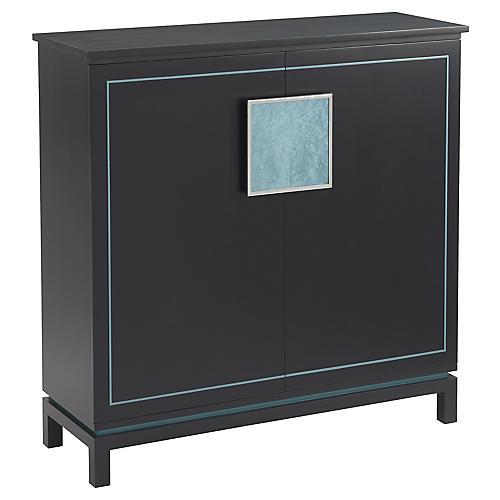 Sapphire Cabinet, Black/Blue