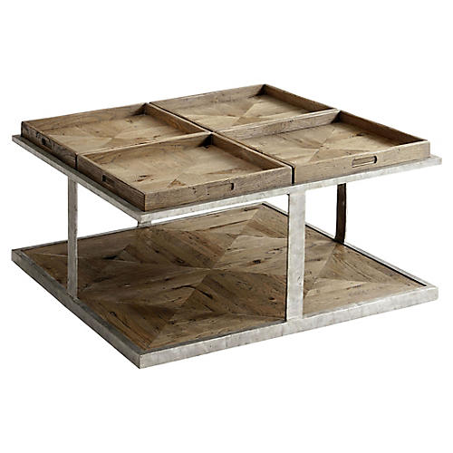 Quattor Coffee Table, Echo Oak