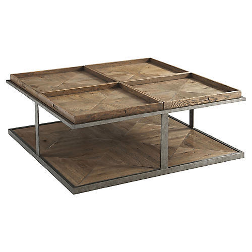 Quattor II Coffee Table, Echo Oak