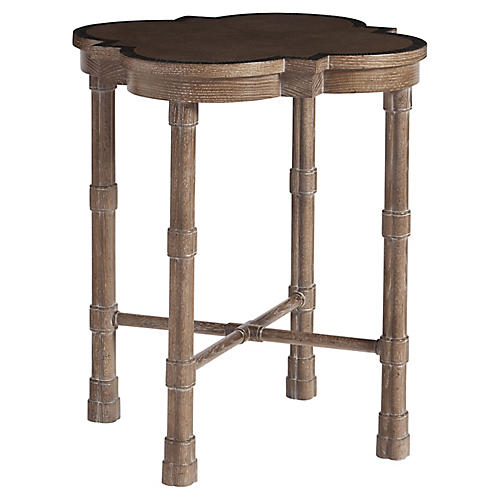 Alhambra Side Table, Cerused Toffee