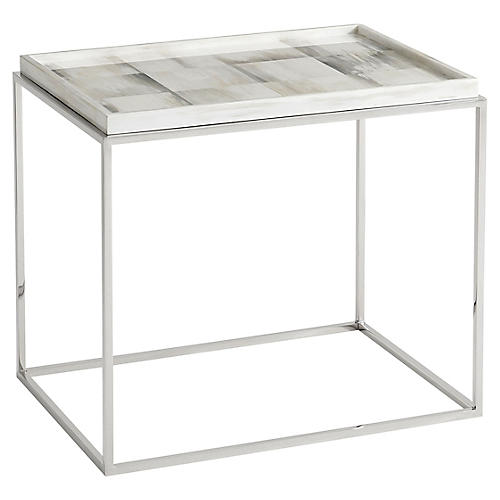 Quadrilaterals Side Table, Ivory