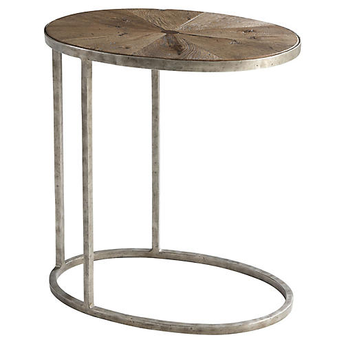 Sunburst Cantilever Side Table, Echo Oak