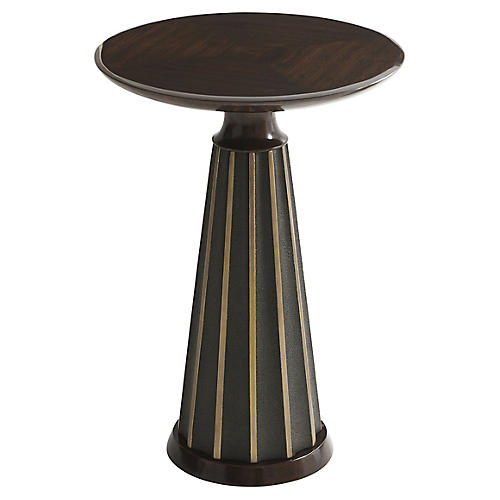 Hendrix Side Table, Polished Walnut